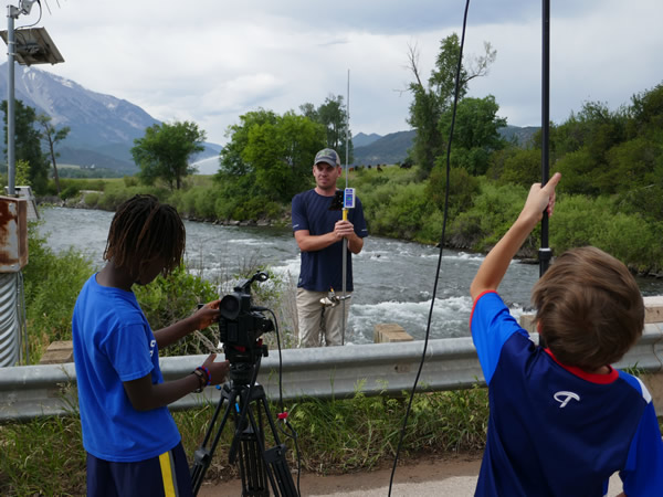 Streamflow in the Crystal River (CEFF 4 Kids Event)